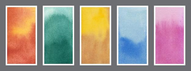 Conjunto de fundo aquarela banner abstrato