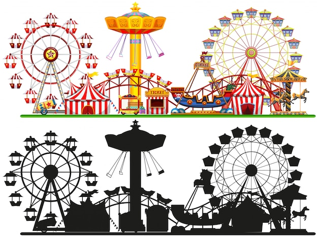 Conjunto de fundo de circo