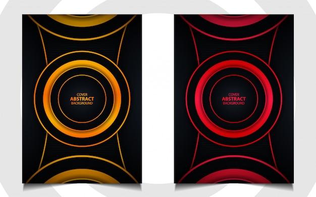 Conjunto de fundo de design moderno de capa