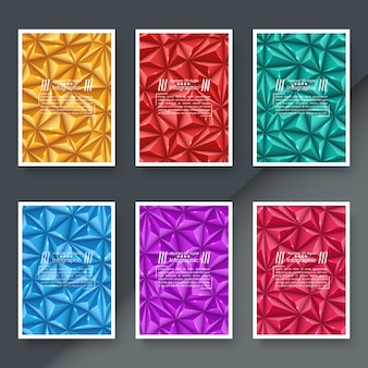 Conjunto de fundo de papel origami de negócios
