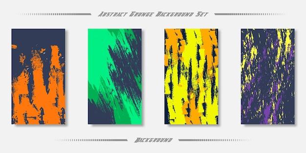 Conjunto de fundo de textura abstrata de grunge