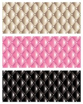 Conjunto de fundo de textura de colcha