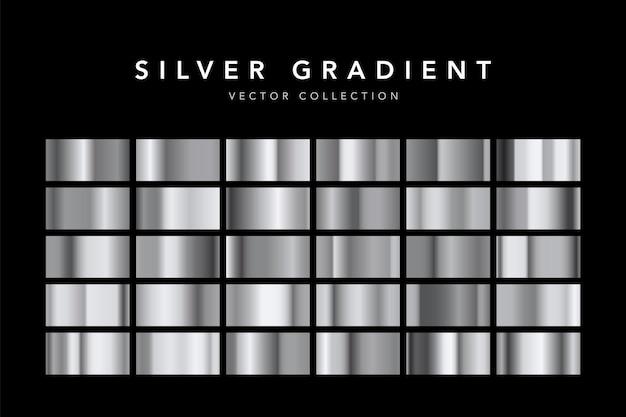 Conjunto de fundo de textura de folha de prata