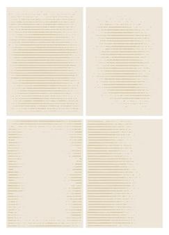 Conjunto de fundo de textura de grunge de linhas horizontais, ilustração vetorial