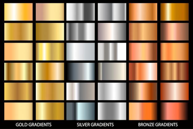 Conjunto de fundo de textura de ouro e rosa e cinza