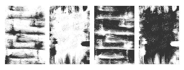 Conjunto de fundo de textura grunge de sobreposição angustiado