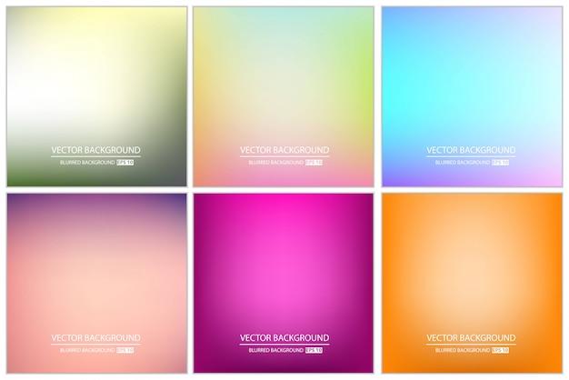 Conjunto de fundo desfocado multicolorido.