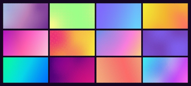 Conjunto de fundo gradiente de meio-tom