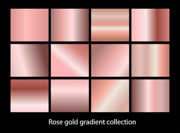 Conjunto de fundo gradiente metálico elegante