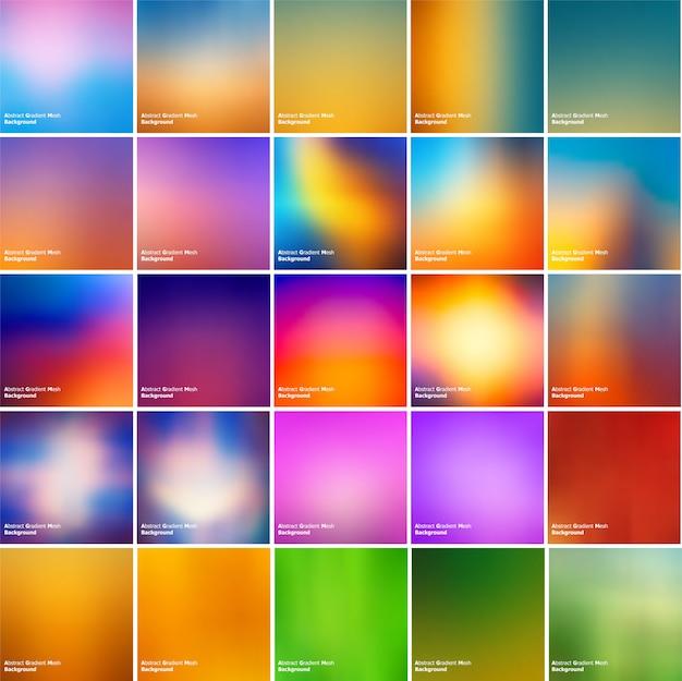 Conjunto de fundo multicolor de malha de gradiente