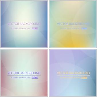 Conjunto de fundo multicolorido mínimo abstrato.