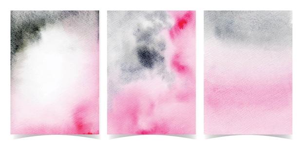 Conjunto de fundo preto e rosa abstrato elegante