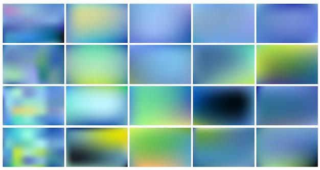 Conjunto de fundos abstratos azuis.
