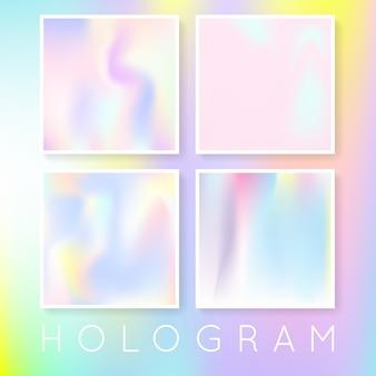 Conjunto de fundos abstratos holográficos.