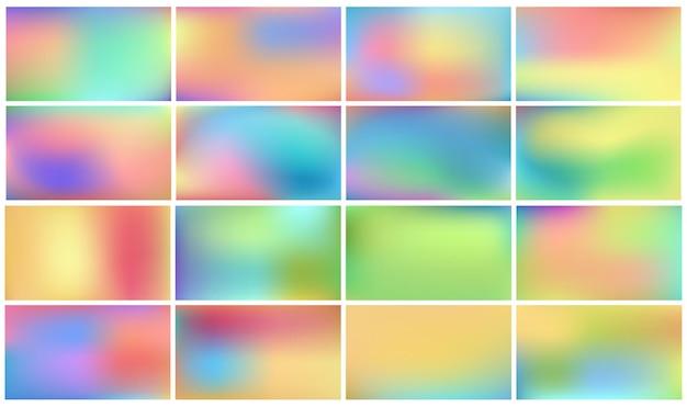 Conjunto de fundos coloridos claros para crianças.