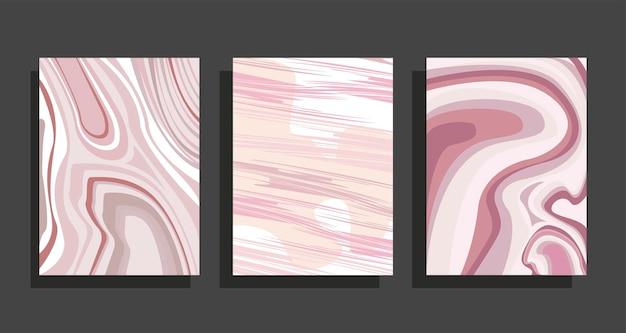 Conjunto de fundos de mármore rosa