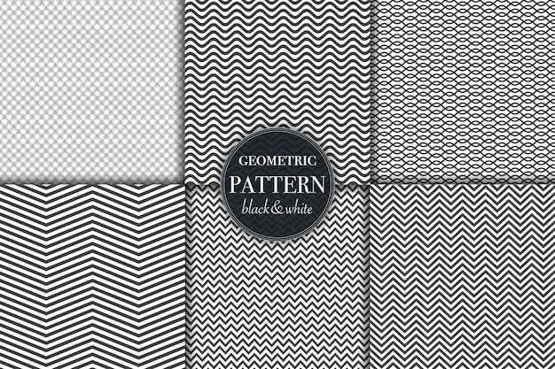 Conjunto de fundos de padrão de linha geométrica