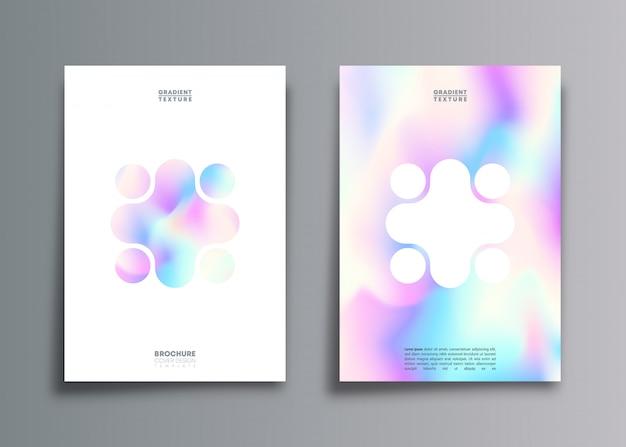 Conjunto de fundos de textura de gradiente de holograma