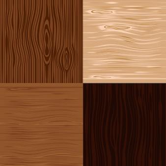 Conjunto de fundos de textura de madeira.