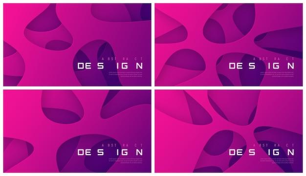 Conjunto de fundos gradientes futuristas abstratos, designs mínimos. amostras globais.