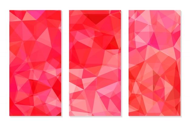 Conjunto de fundos poligonais geométricos abstratos.