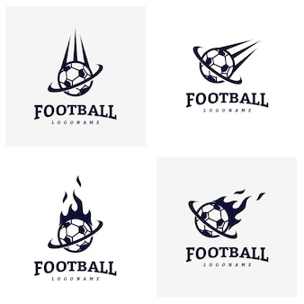 Conjunto de futebol futebol emblema logotipo Design Templates. Identidade da equipe esportiva