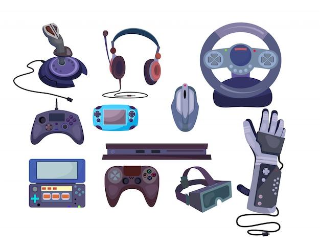 Conjunto de gadgets de jogos