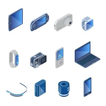 Conjunto de gadgets de tecnologia digital