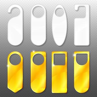 Conjunto de ganchos de porta em ouro e plástico