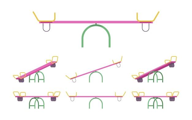 Conjunto de gangorra para equipamentos de playground