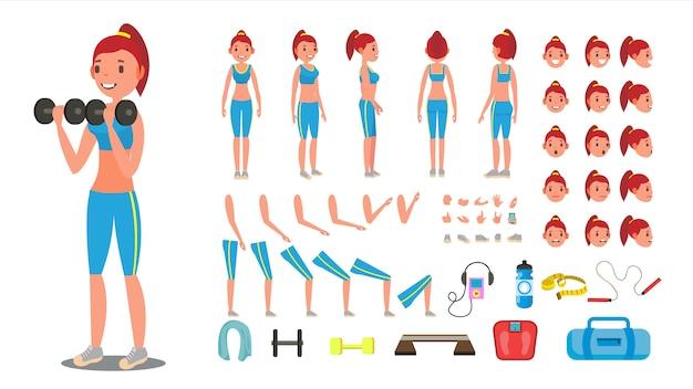 Conjunto de garota fitness