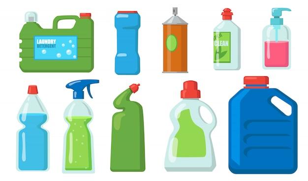 Conjunto de garrafas de água sanitária