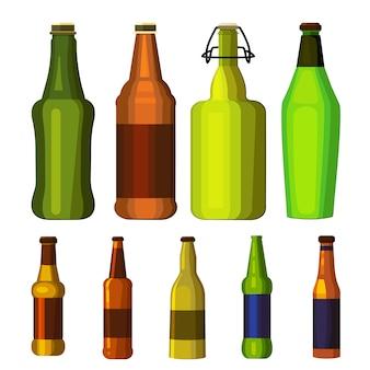 Conjunto de garrafas de cerveja