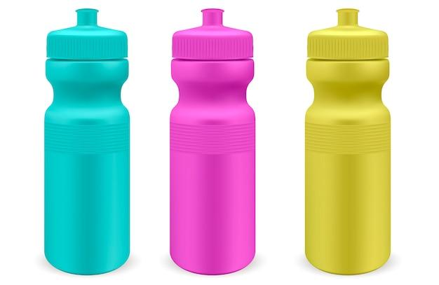 Conjunto de garrafas de plástico para esportes aquáticos mate