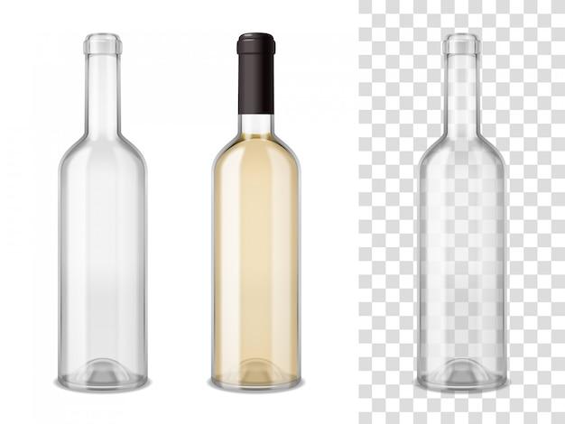 Conjunto de garrafas de vinho blass