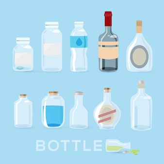 Conjunto de garrafas.