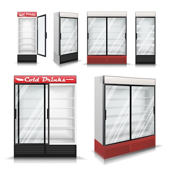 Conjunto de geladeira realista