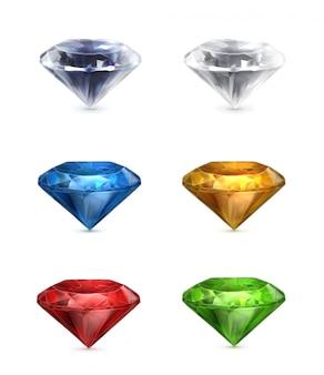 Conjunto de gemas de ícones