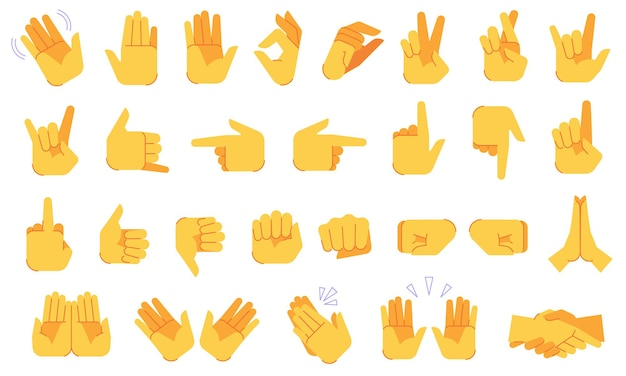 Conjunto de gestos de emoji
