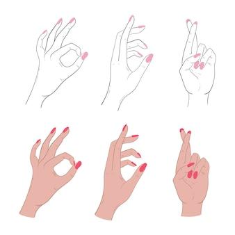 Conjunto de gestos.