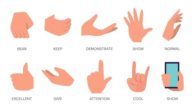 Conjunto de gestos