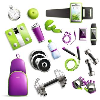 Conjunto de ginásio de fitness
