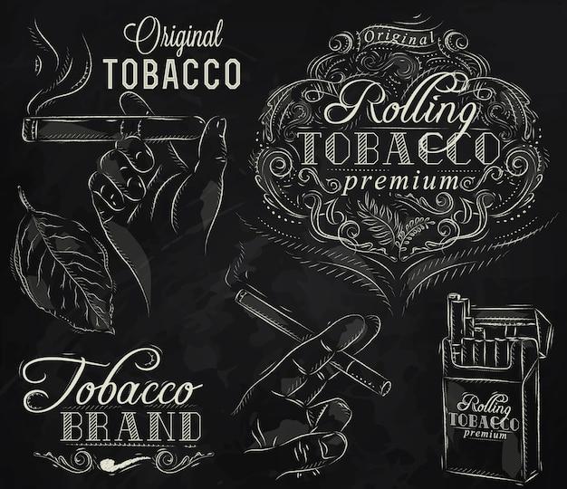 Conjunto de giz de tabaco