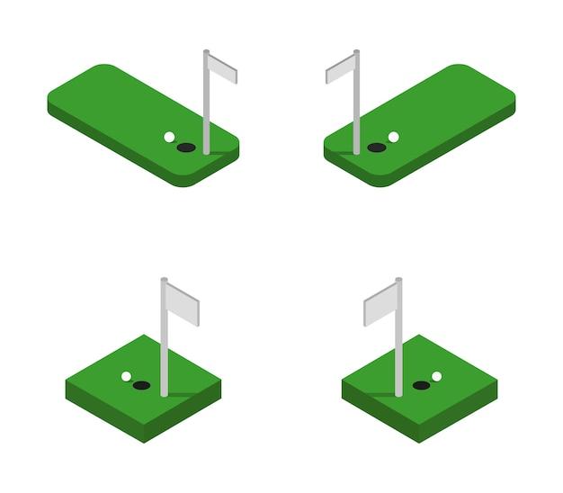 Conjunto de golfe isométrico