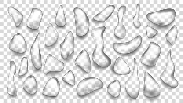 Conjunto de gotas de água
