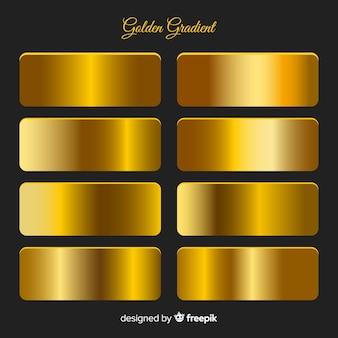 Conjunto de gradiente de ouro de textura metálica