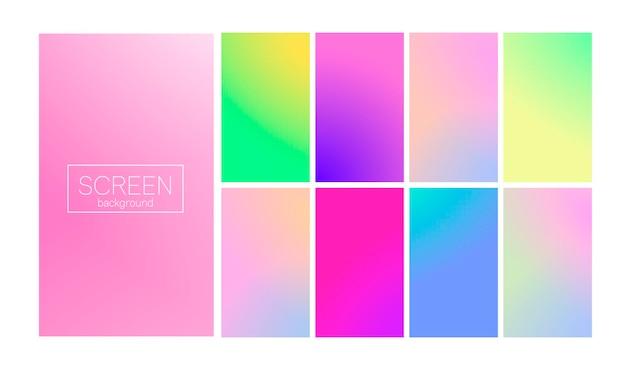 Conjunto de gradiente moderno, abstrato vertical.