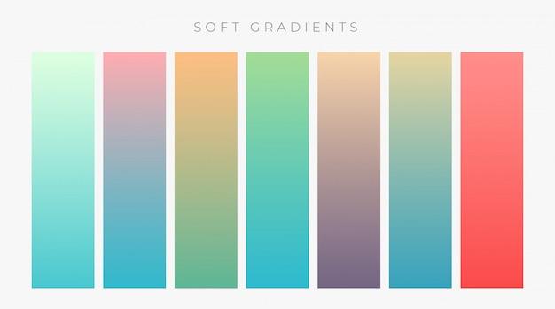 Conjunto de gradientes colroful brilhante definido