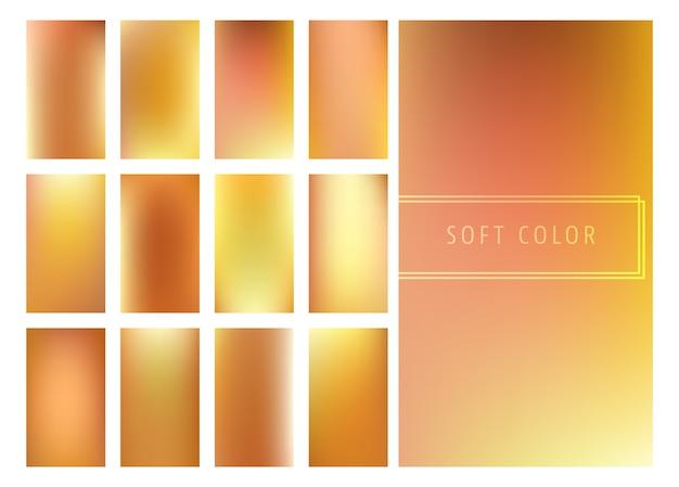 Conjunto de gradientes de fundo suaves de ouro