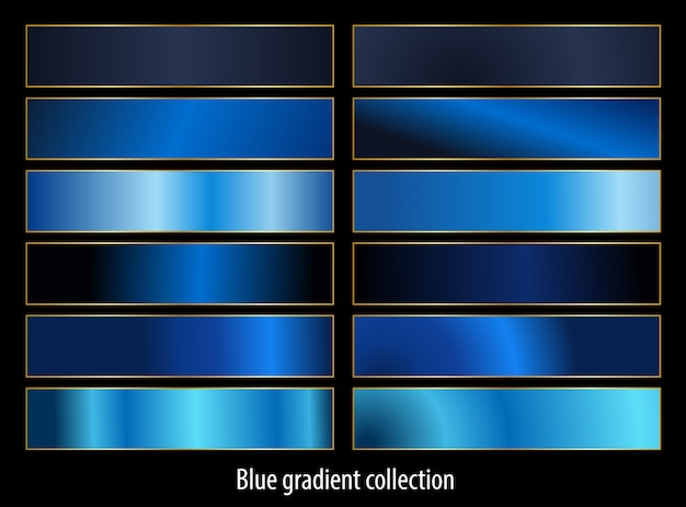 Conjunto de gradientes de ouro metálico